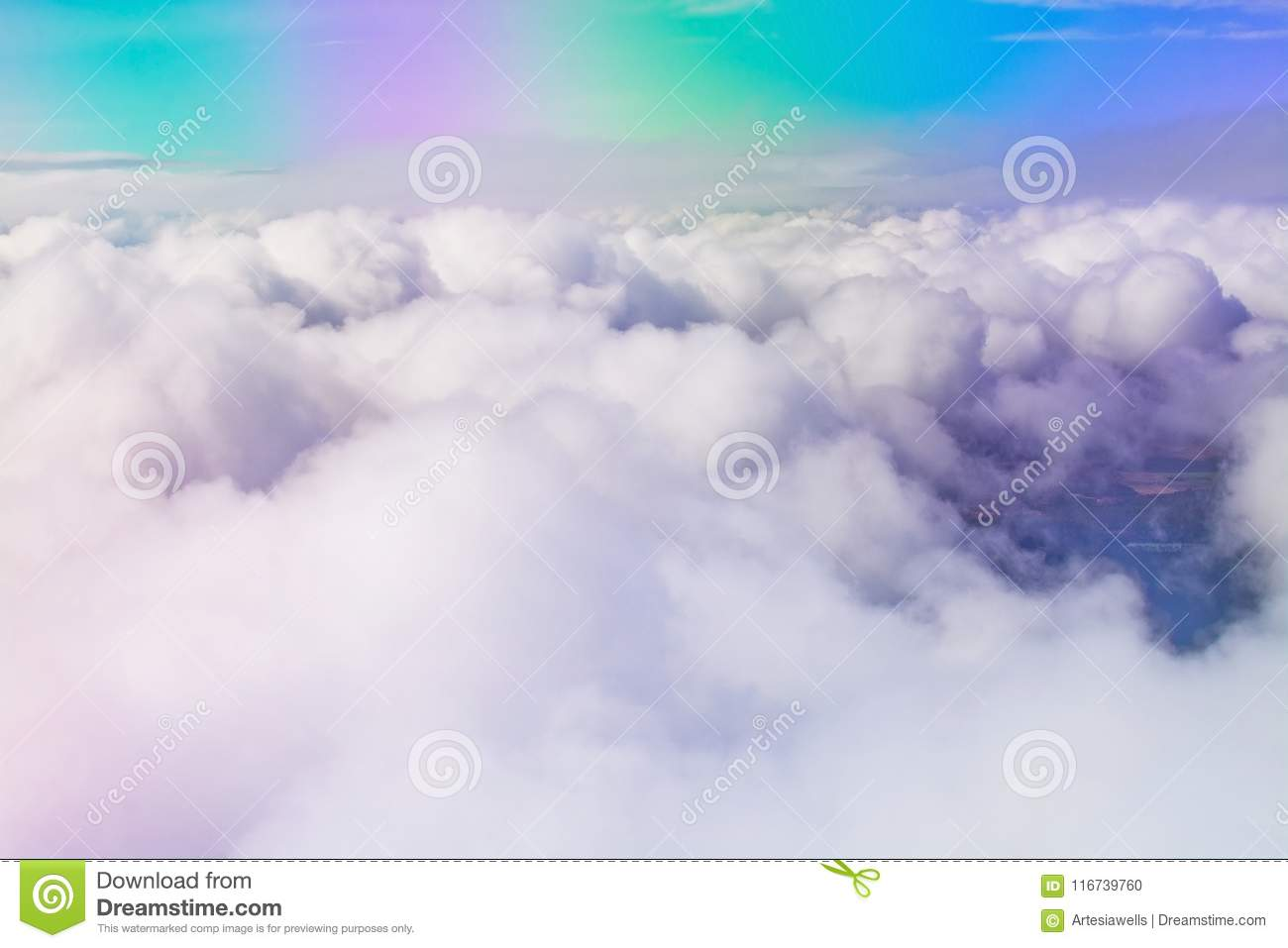 Flight images with clouds