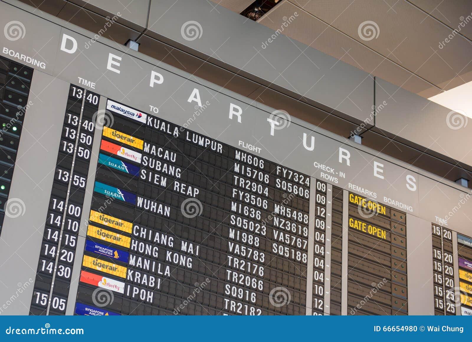changi airport flight schedule