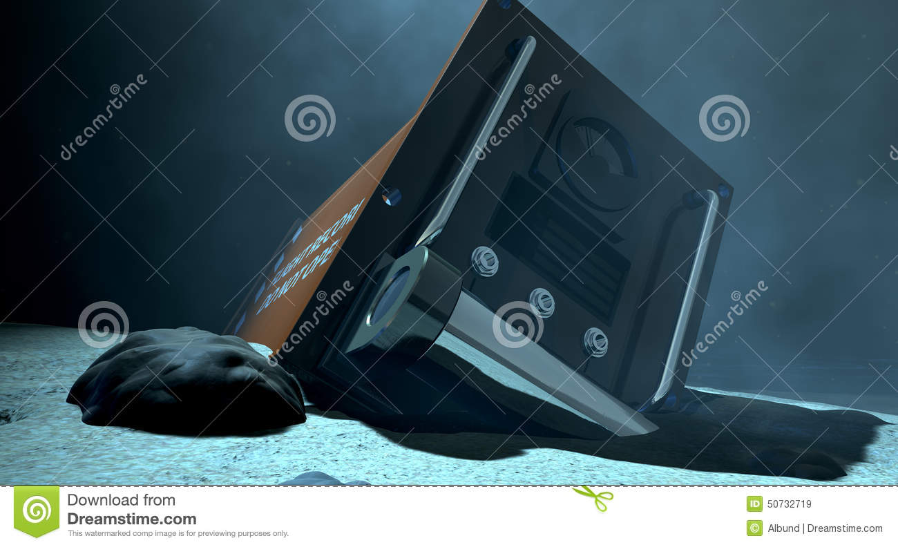 Flight recorder under the sea stock image cartoondealer for Ocean floor description
