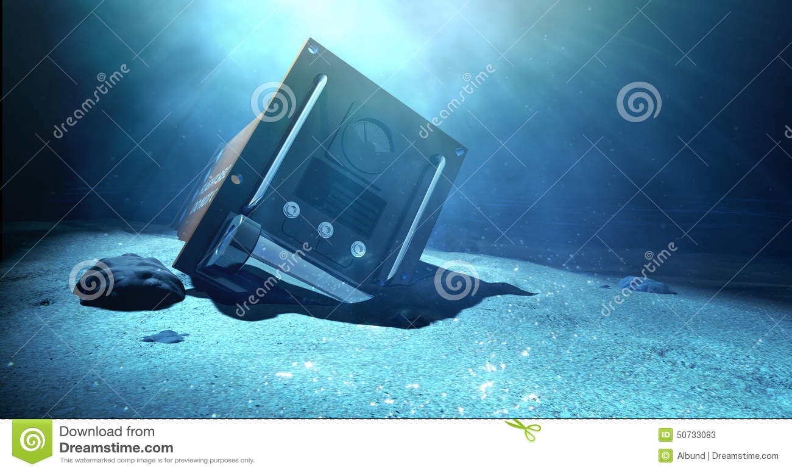 Flight Recorder Under The Sea Stock Photo Image - Ocean floor painting