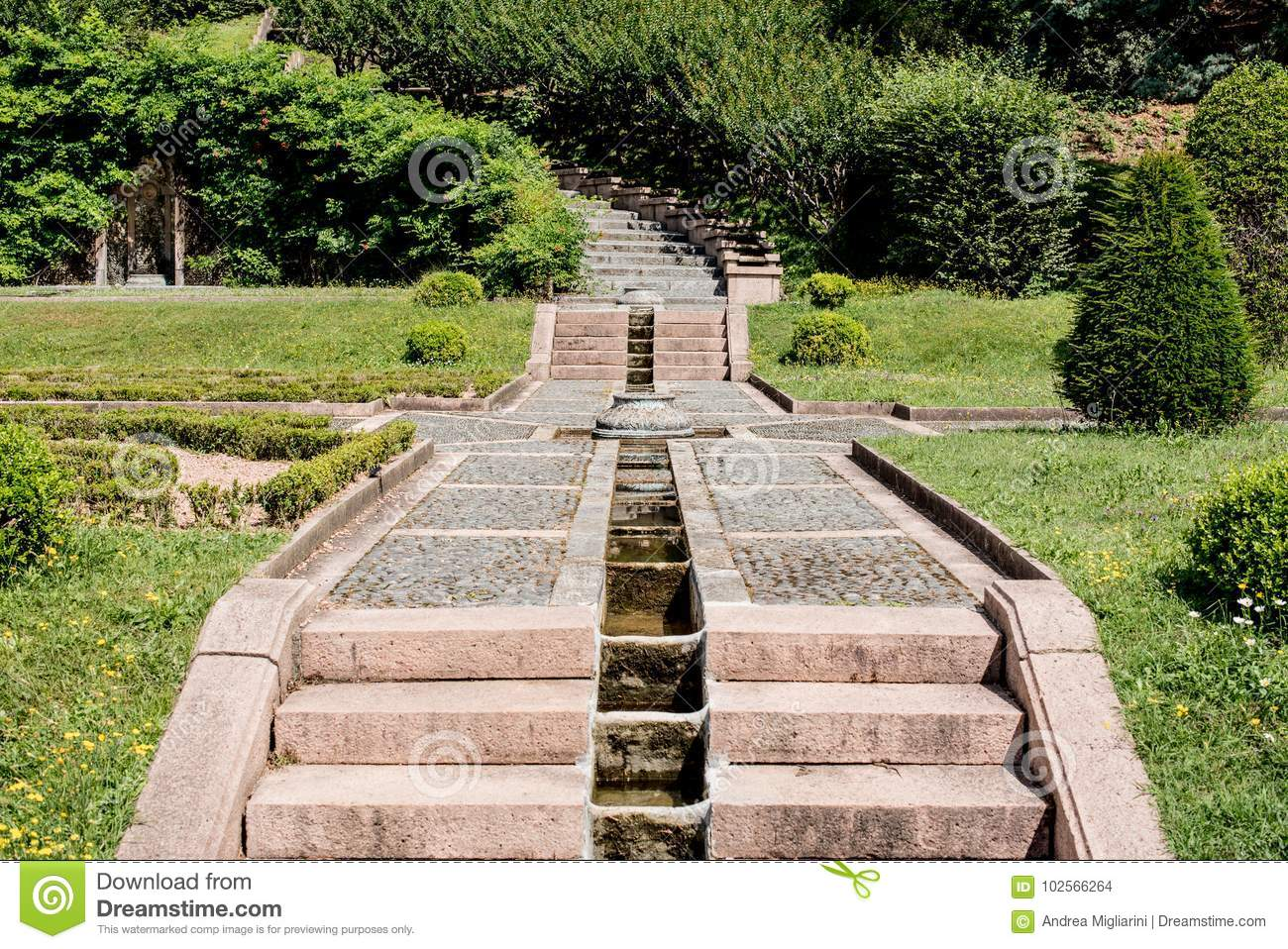 Download Flight Of Steps In A Garden Stock Photo   Image Of Architecture,  Masonry: