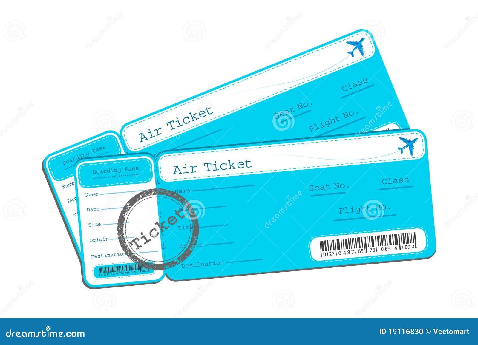 Flight Ticket Stock Photo - Image: 19116830