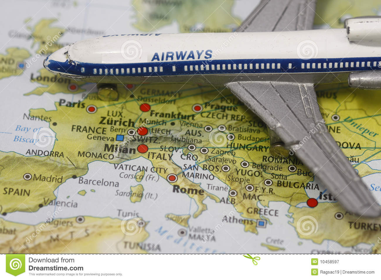 Flight to europe royalty free stock photography image for Cost of plane ticket to germany