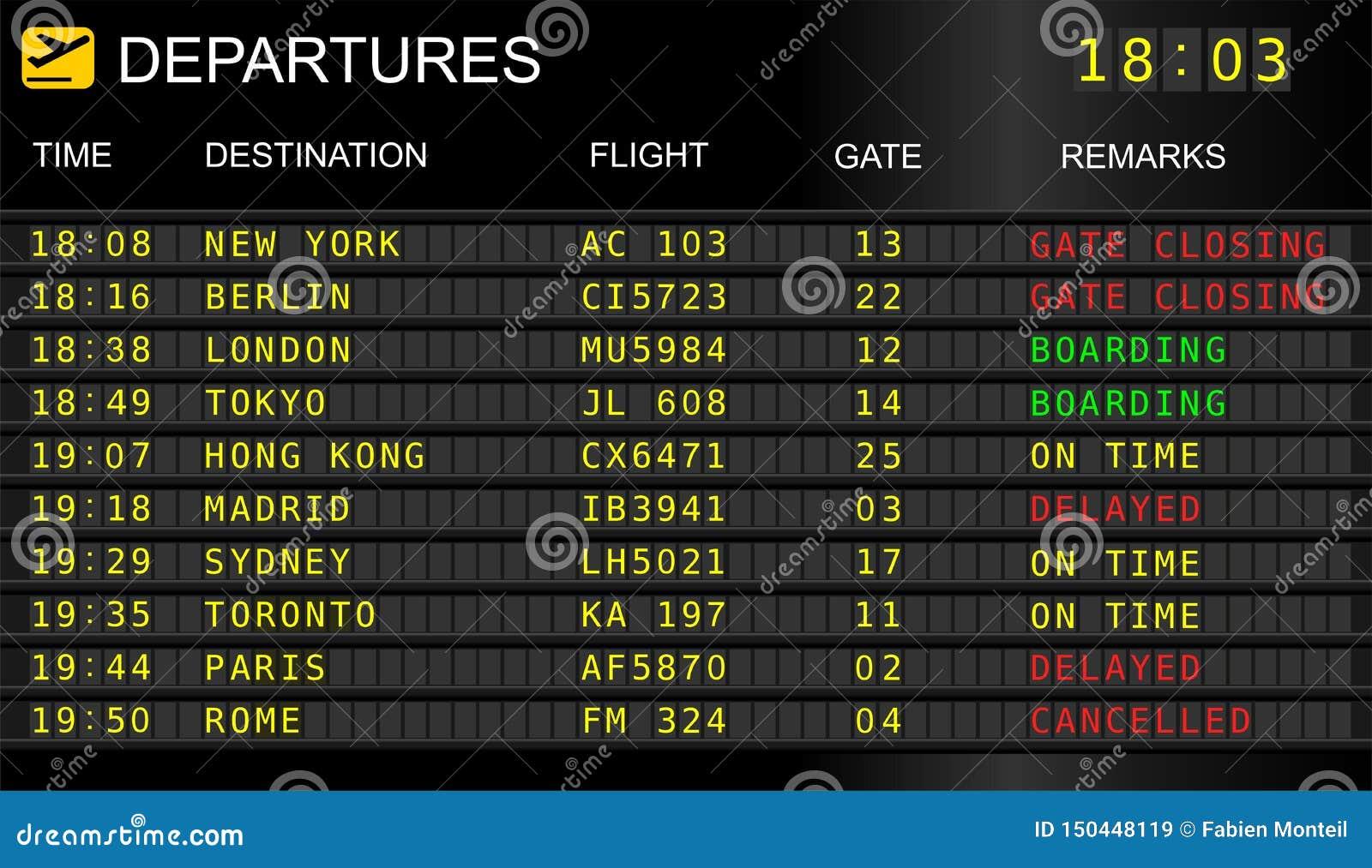 flights-departures-board-flight-informat