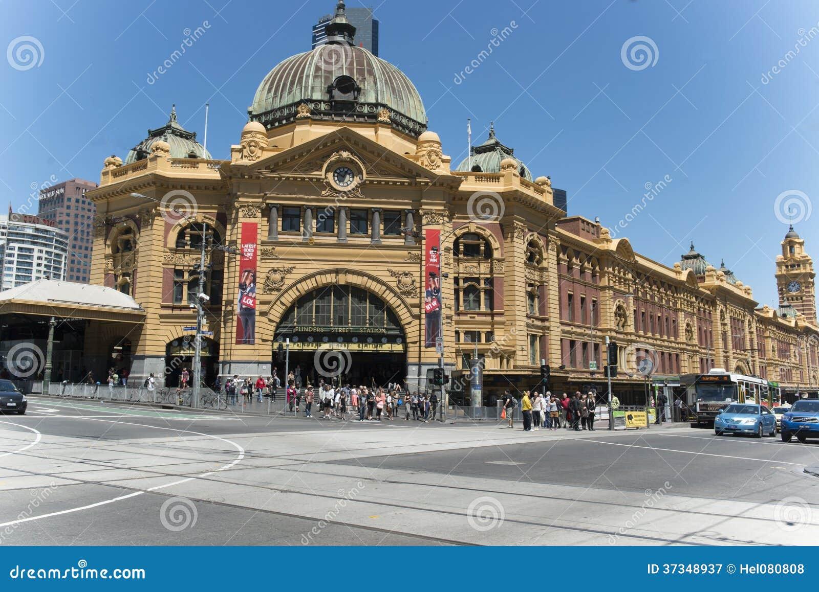 Flindersgatastation Melbourne