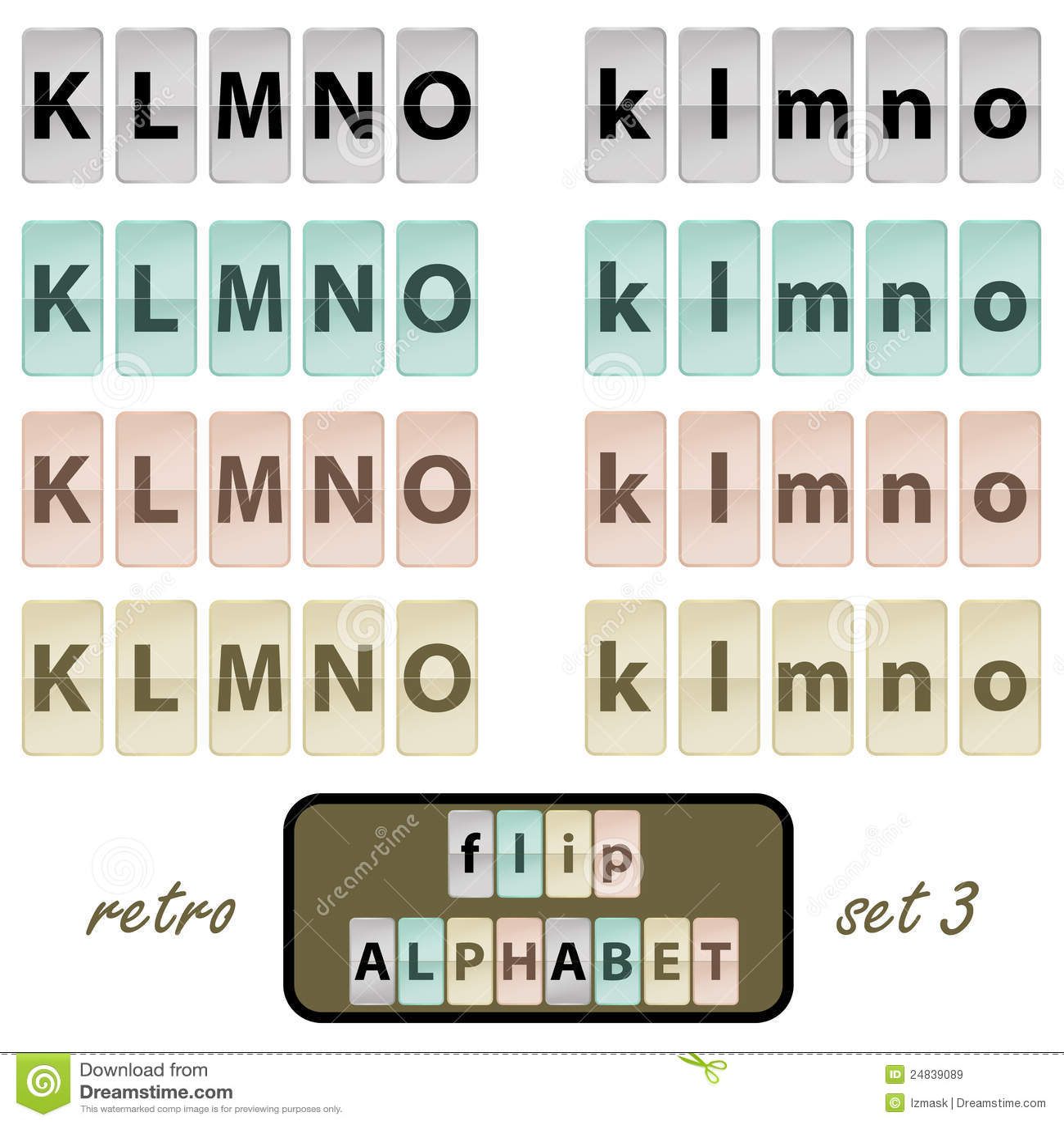 Flip Alphabet Letters C