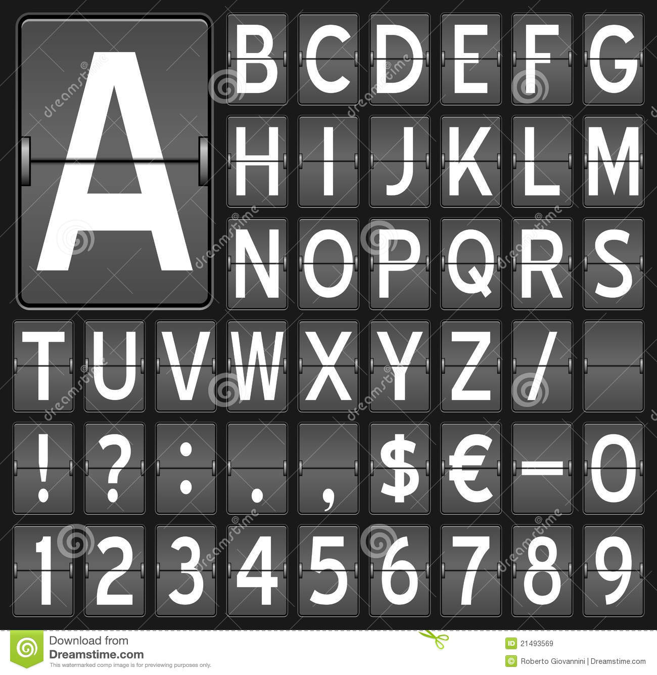 Flip Board Letters & Numbers Royalty Free Stock Images ...