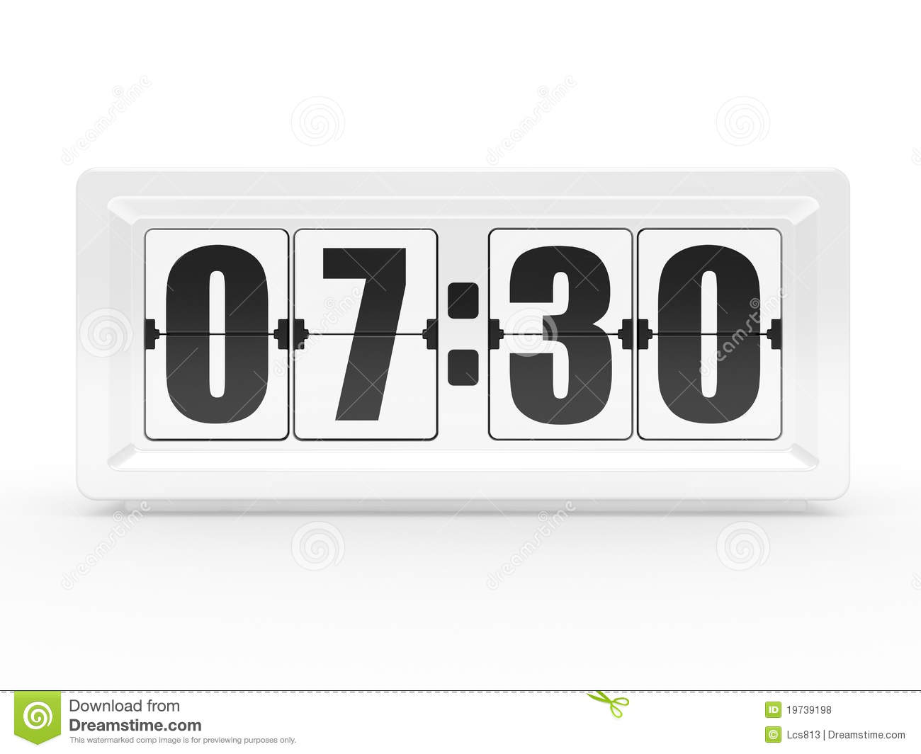 A flip clock royalty free stock photos image 19739198 White flip clock