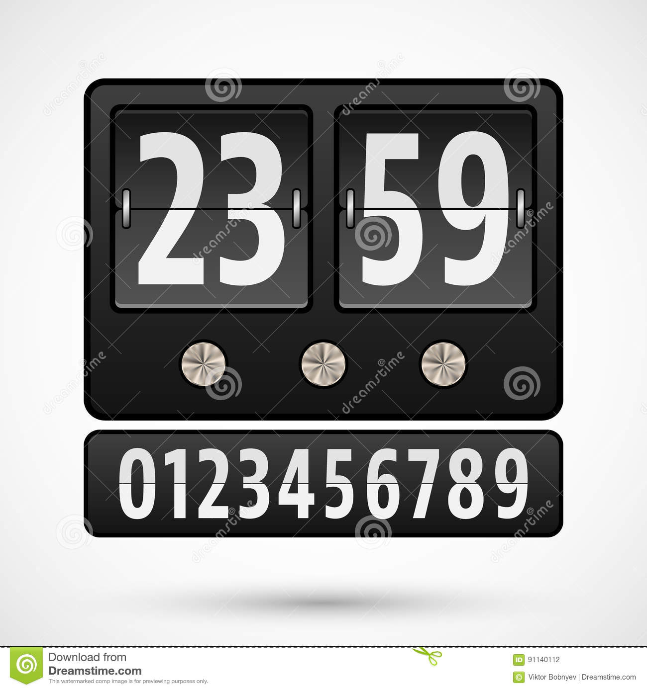 Flip Clock Or Countdown Timer Stock Vector - Illustration of analog ...