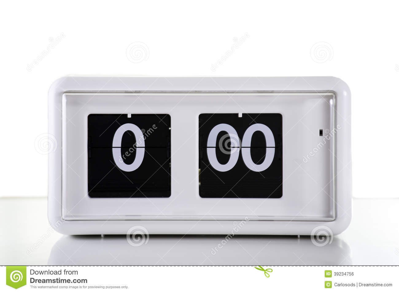 Flip clock stock illustration image 39234756 White flip clock