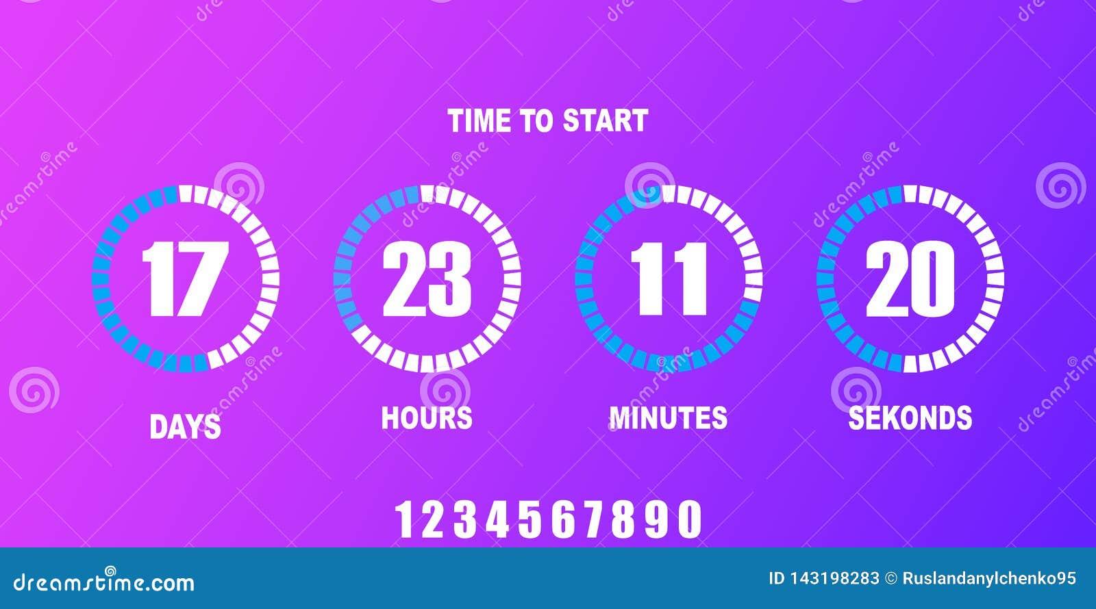 Flip countdown clock counter timer