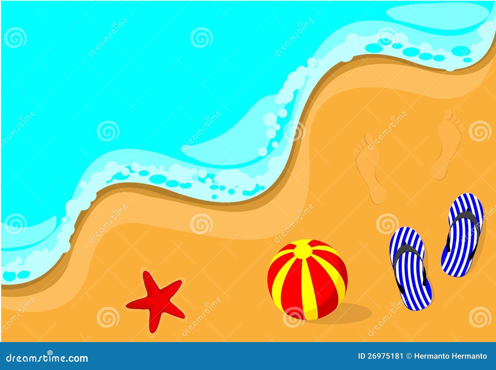 Flip-flop på stranden