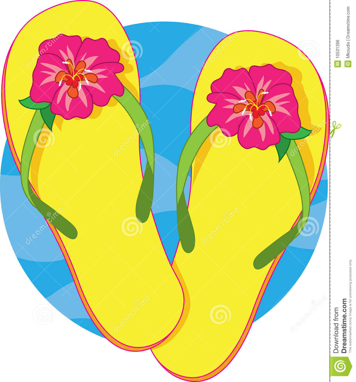 Flip Flops Royalty Fre... Yellow Hibiscus Clip Art