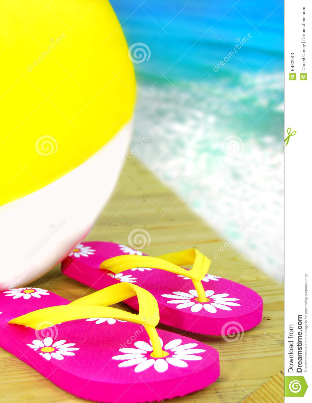 Beautiful Beach Ball In Ocean Flops And Beachball By Stock Photos E For Inspiration Decorating