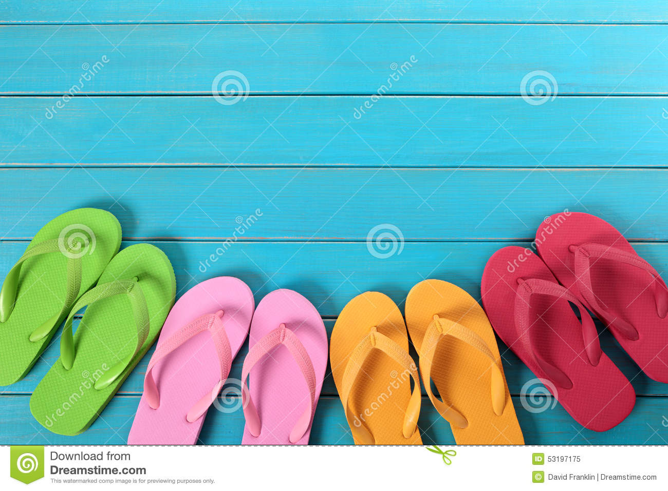 Flip Flops Stock Photo Image 53197175