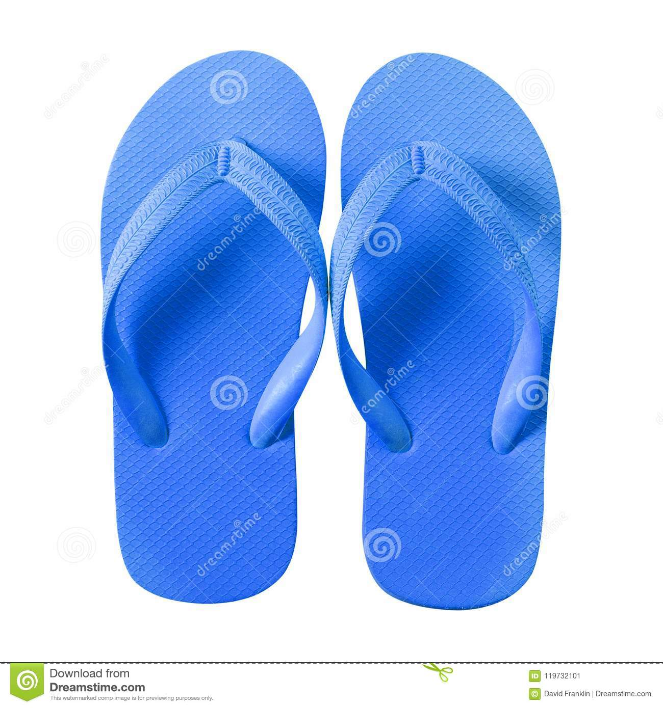 9224c2f613a9 Flip Flops Blue Beach Shoes Isolated On White Background Stock Image ...