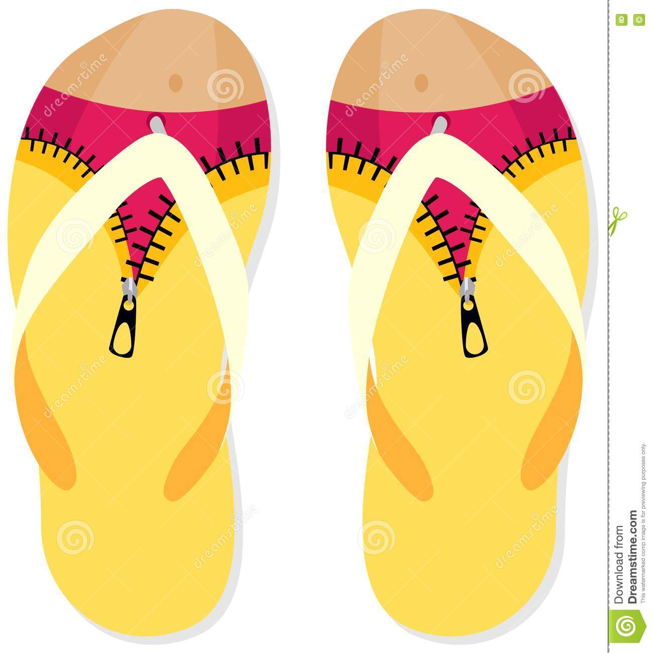 flip flops design stock photo image 6865130