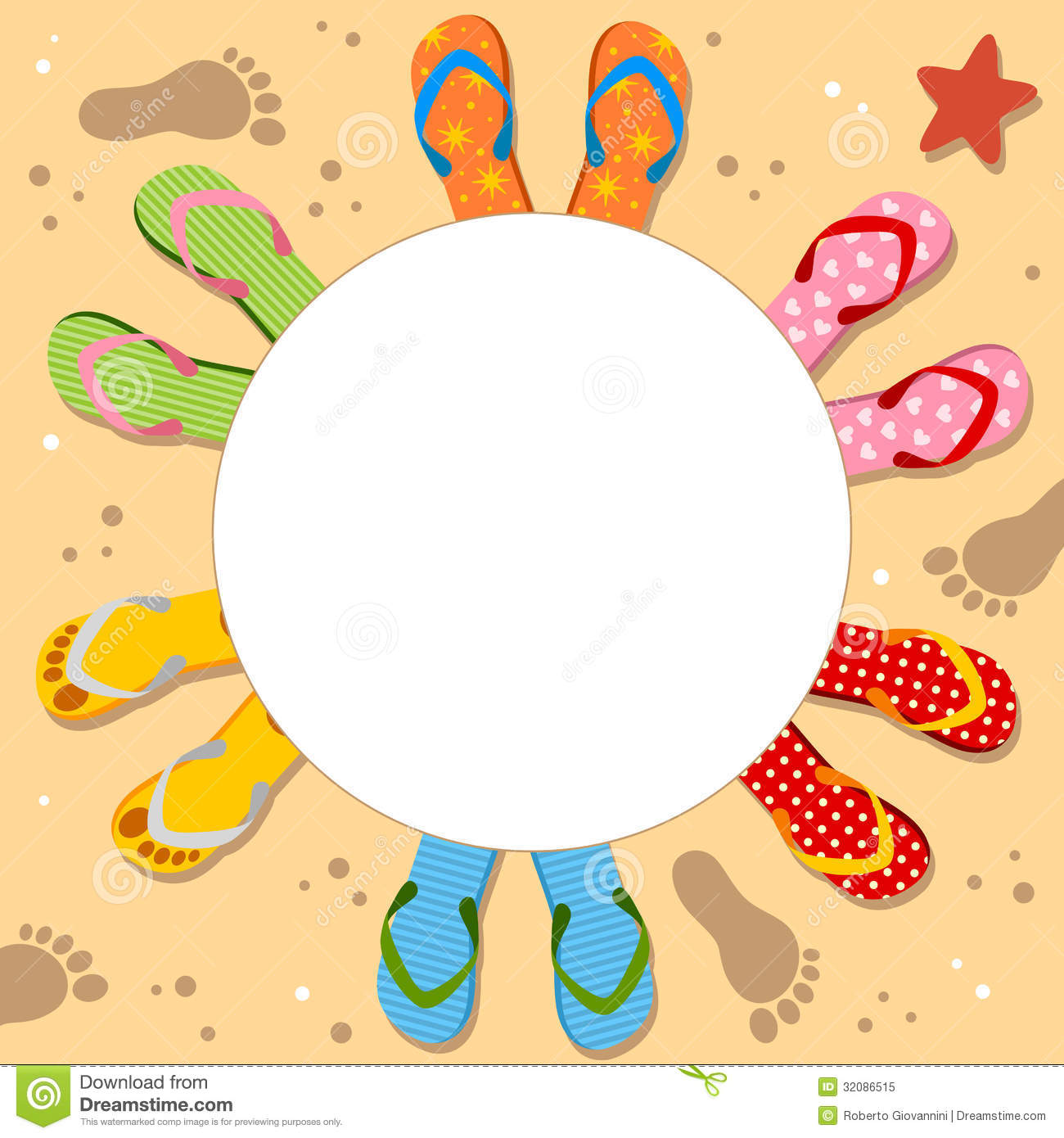 Flip Flops Holiday Photo Frame Royalty Free Stock Photo - Image ...