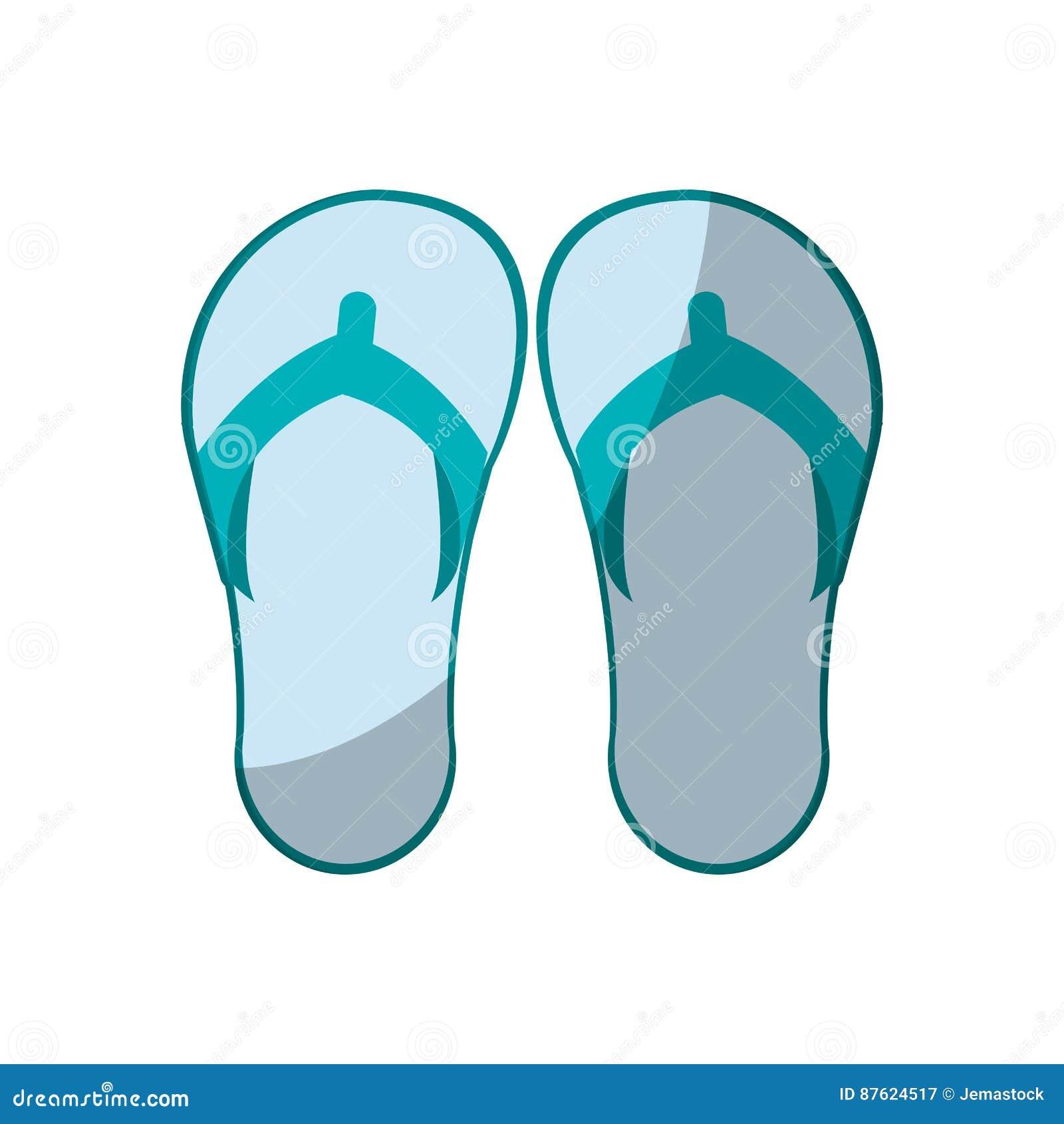 7f55cd203947 Flip flops icon over white background. colorful design. vector illustration