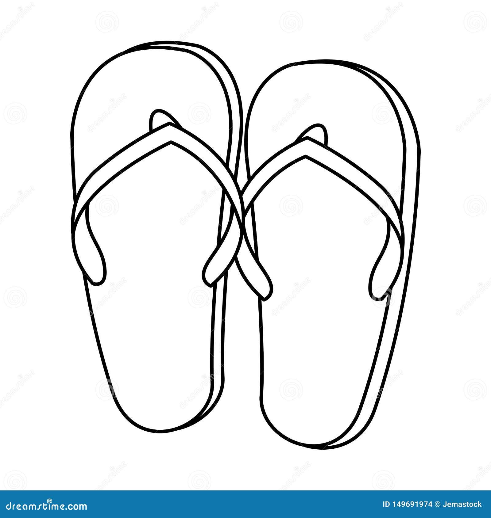 Flip Flops Sandals Footwear Cartoon In