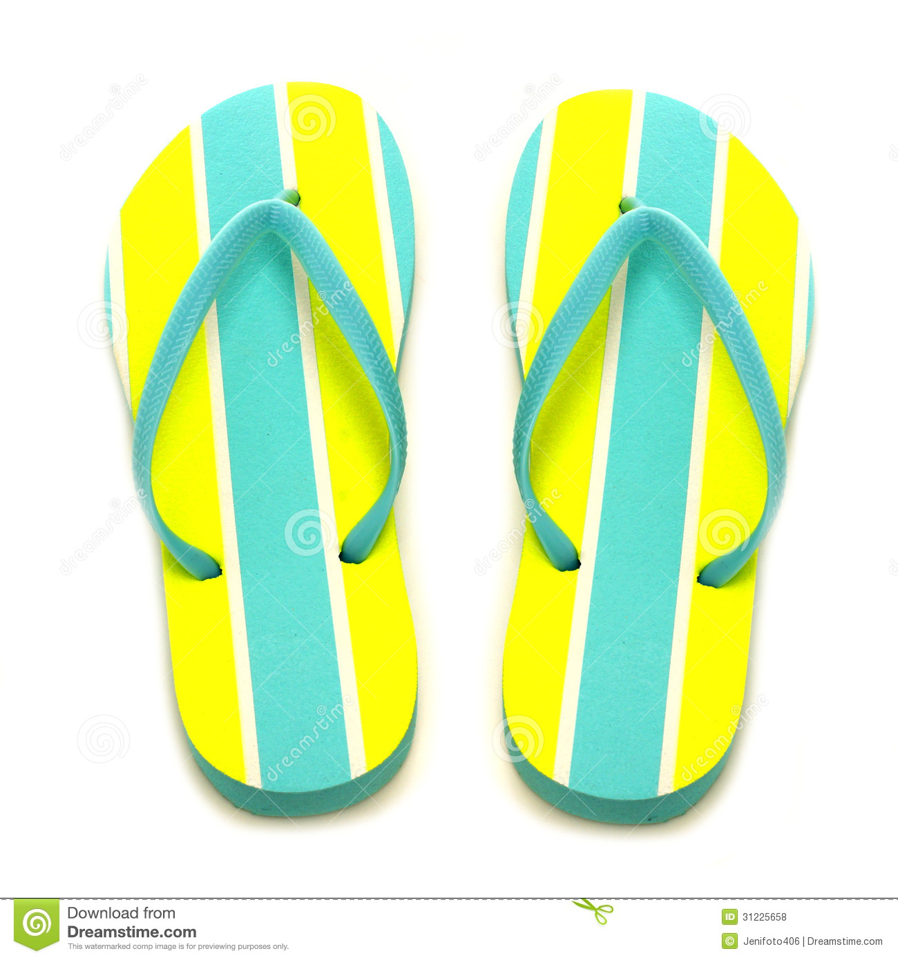 acbfc09d304c Flip-flops stock photo. Image of blue