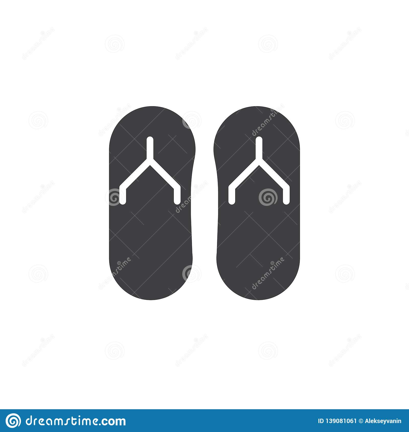 4806a8149773 Flip flops vector icon. filled flat sign for mobile concept and web design.  Summer slippers simple solid icon. Beach sandals symbol