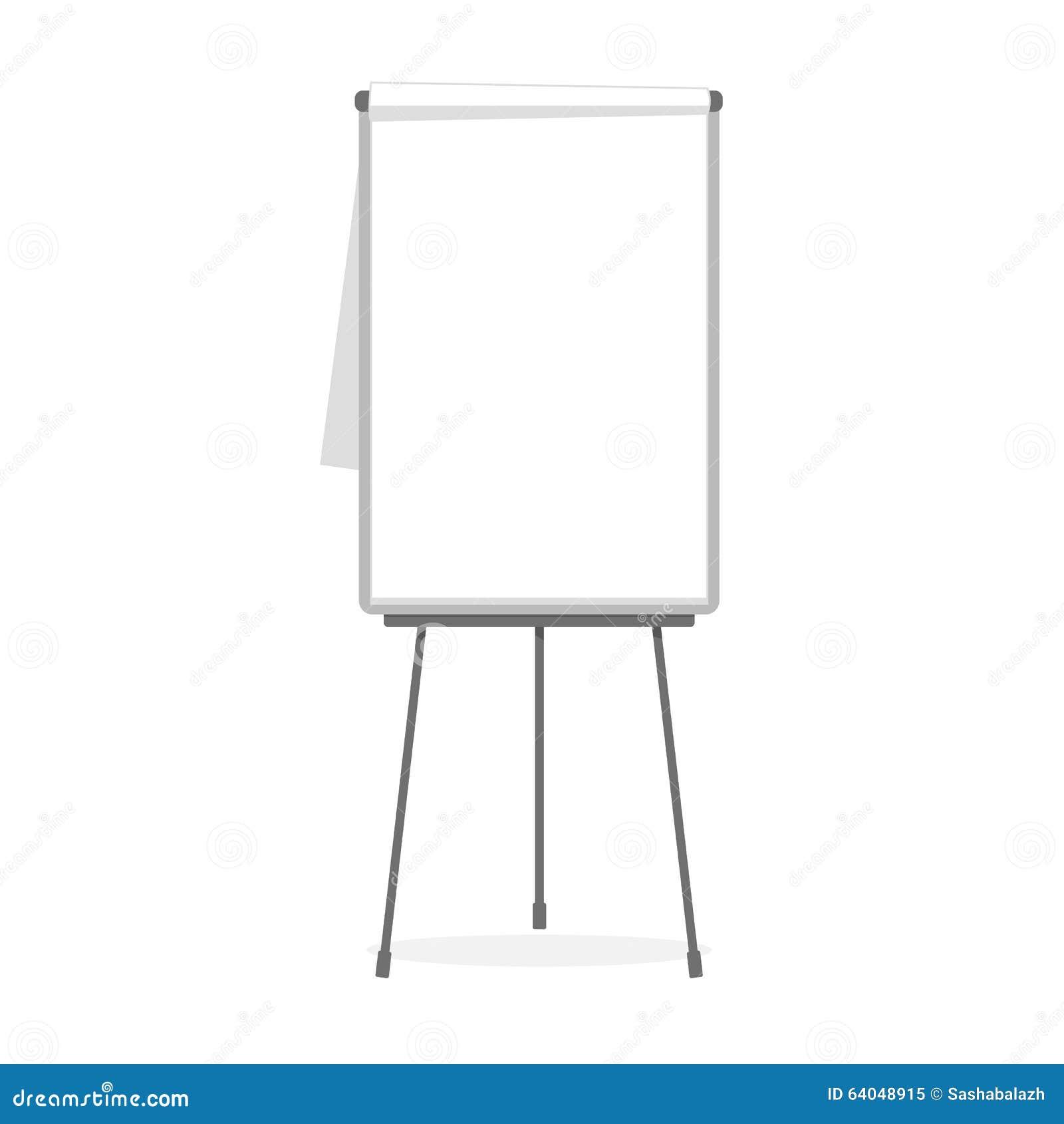 flipchart blank template illustration 64048915 megapixl