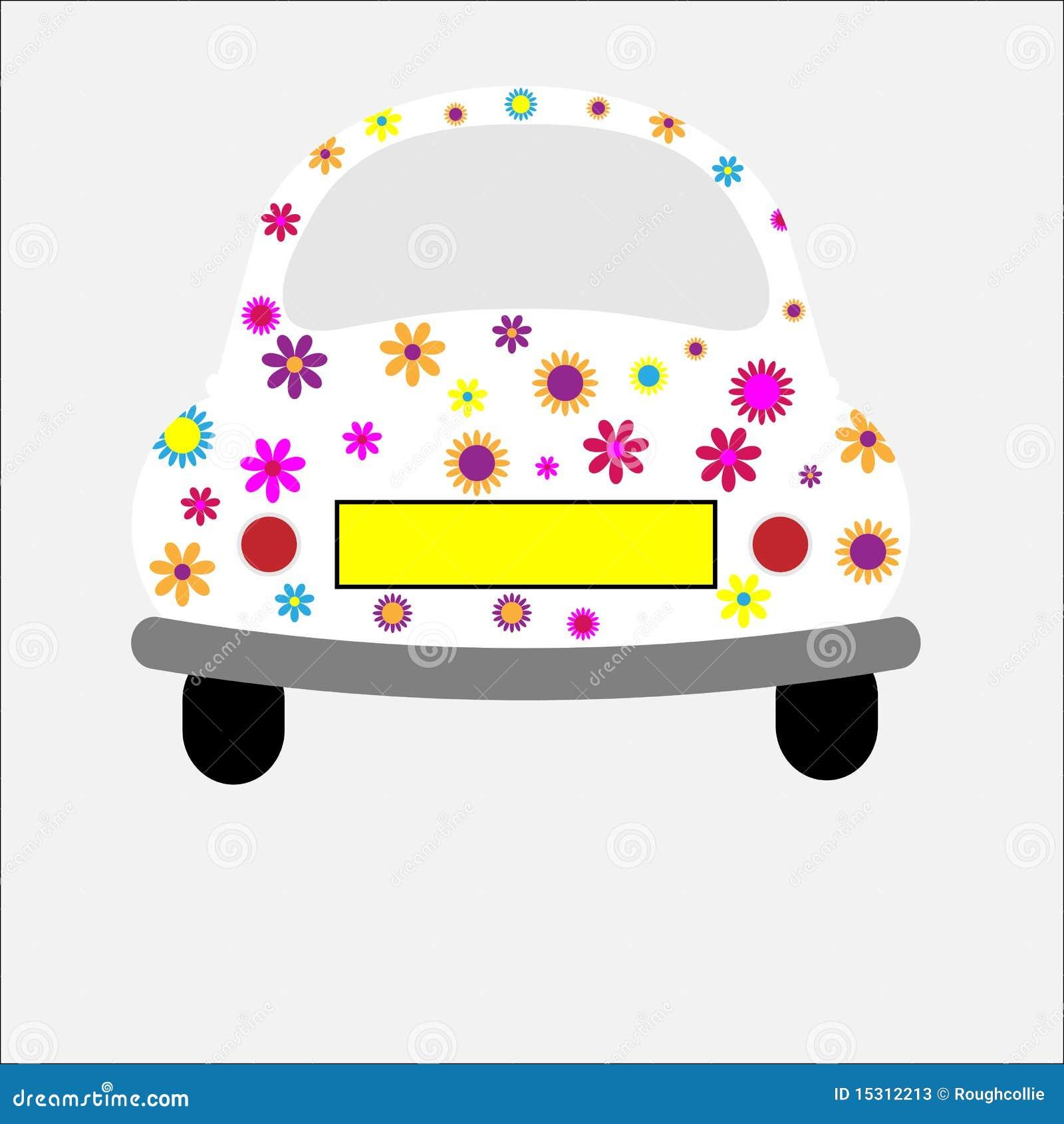 Flippige Retro- Auto-Blumen