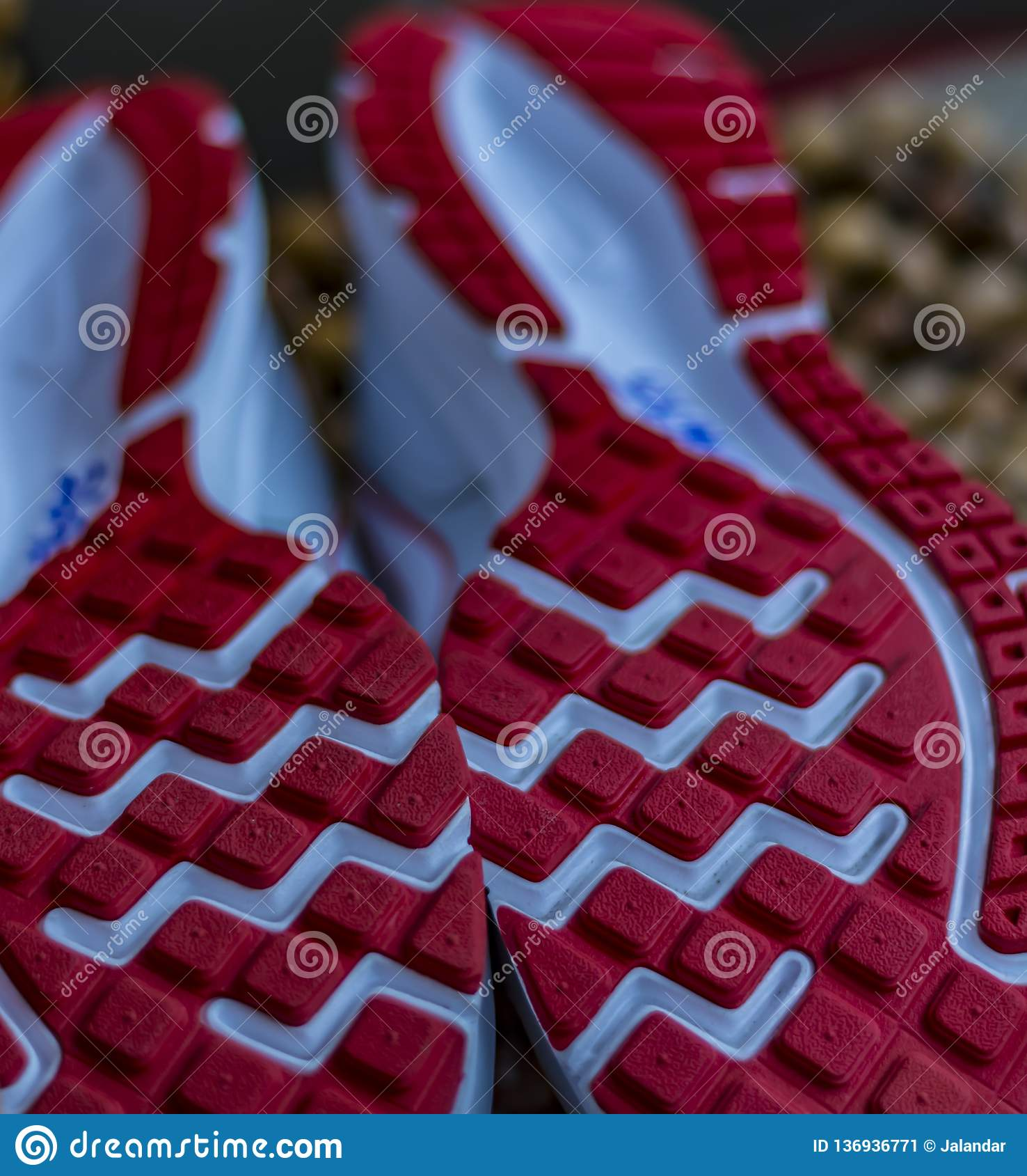 Fresh Start: Shoe sole , spikes , grips of a running shoe