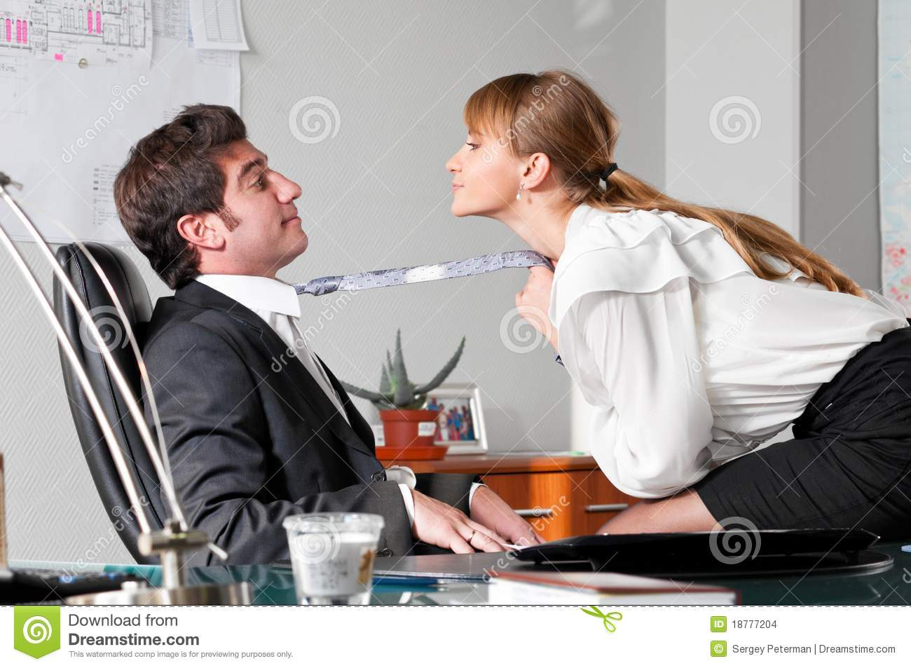 Flirting At Work Stock Images - Image: 18777204