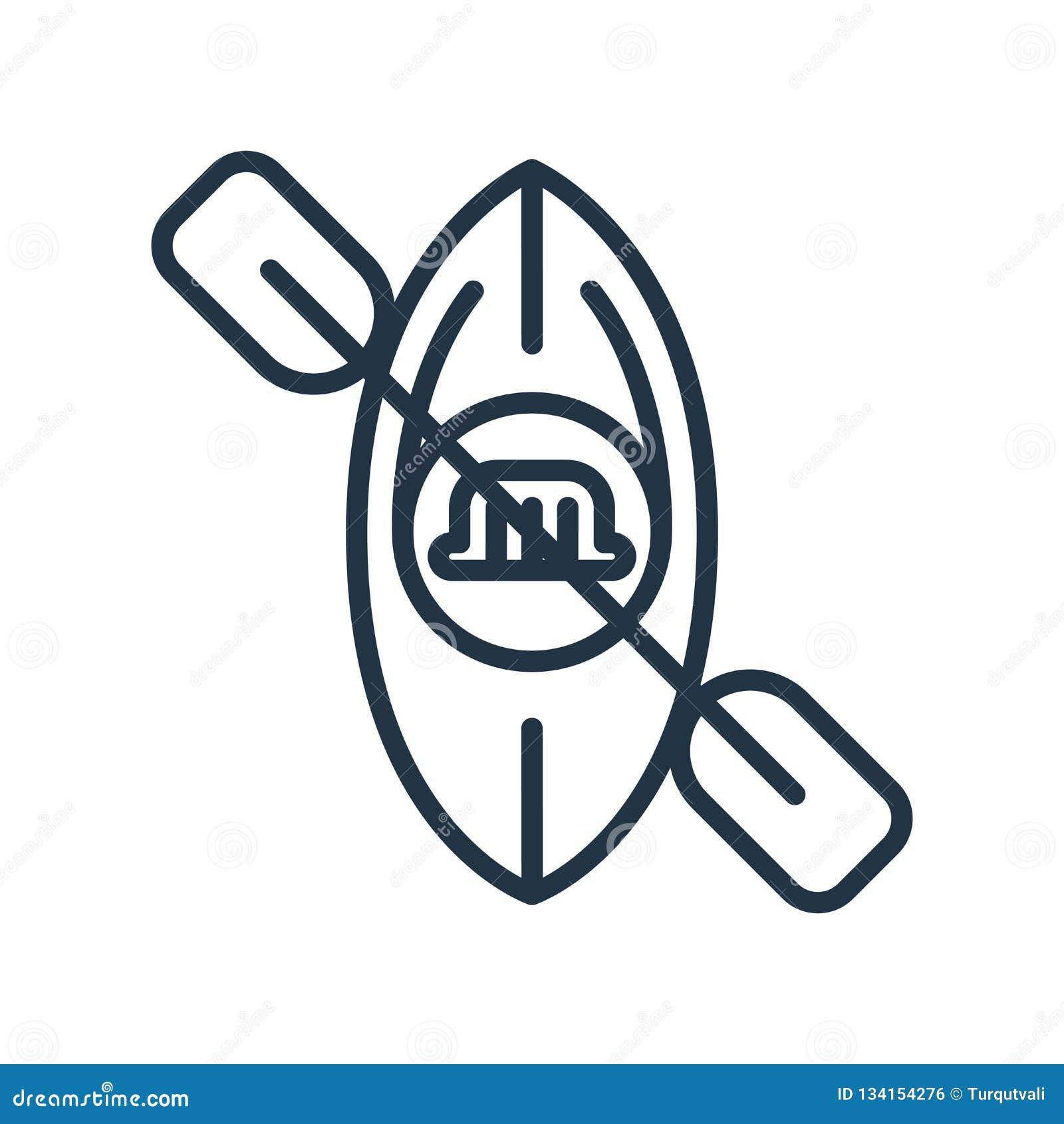Flisactwo ikony wektor odizolowywający na białym tle, flisactwo znak