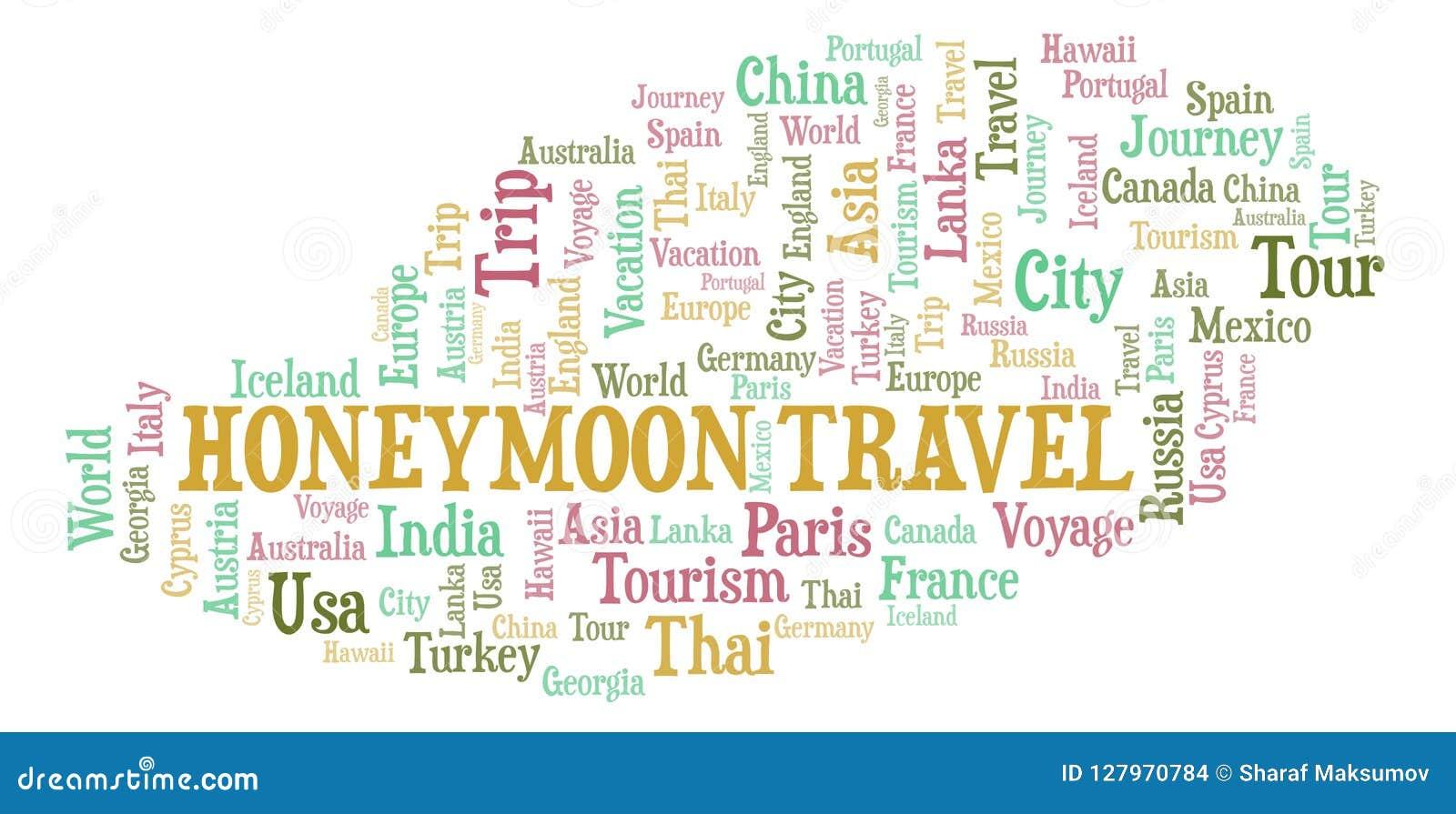 Flitterwochen-Reisewortwolke