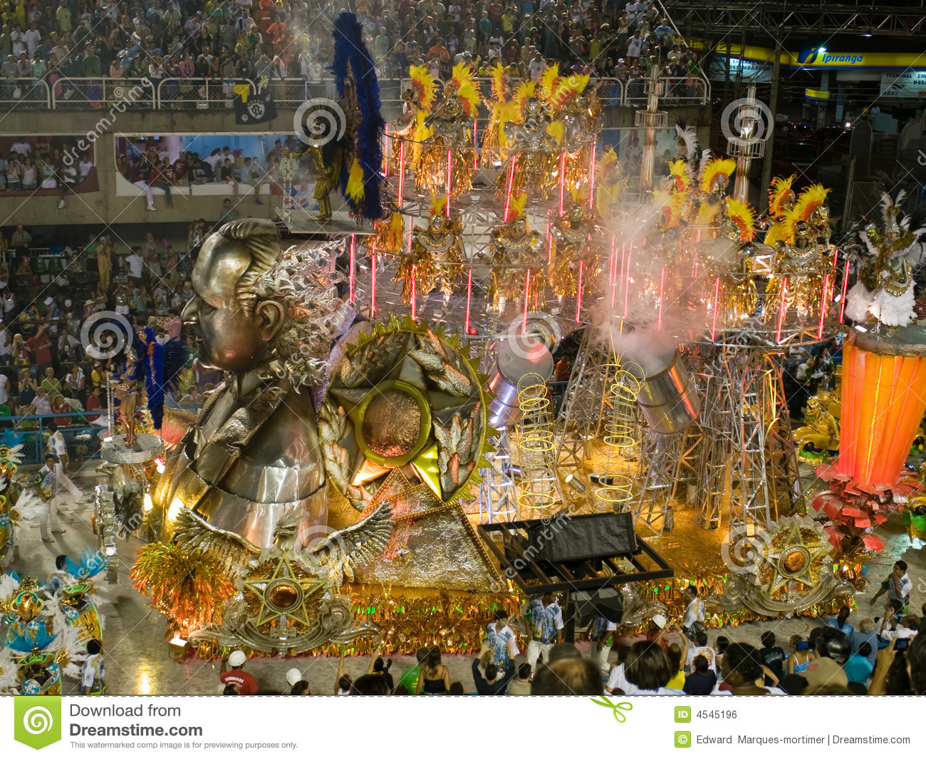 Float And Dancers  Rio Carnival  Editorial Photo