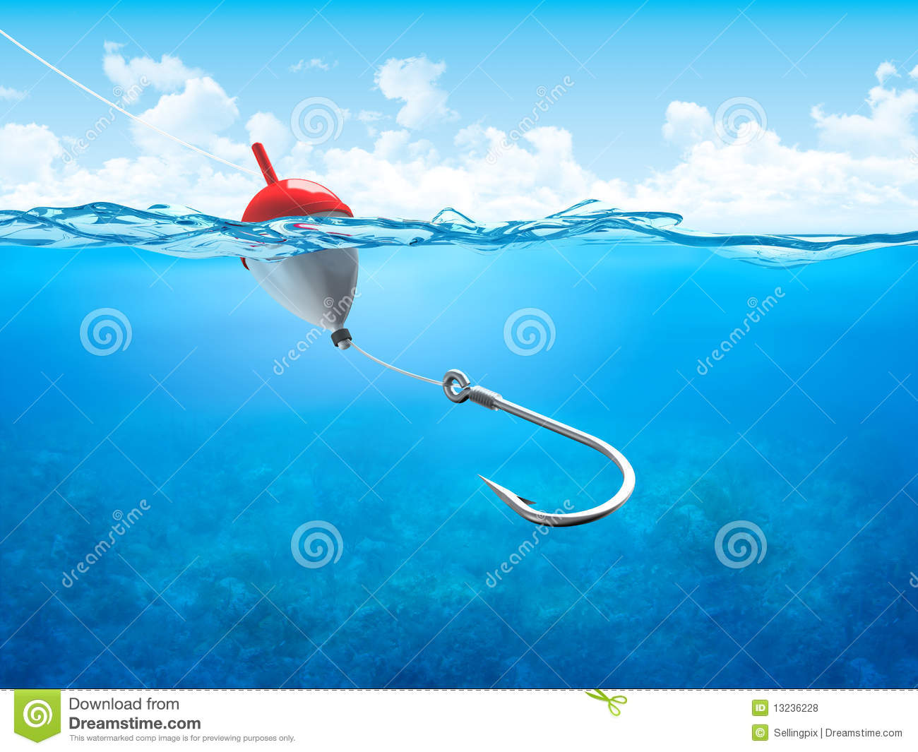 ... Hook Underwater Vertical Royalty Free Stock Photos - Image: 13236228: www.dreamstime.com/royalty-free-stock-photos-float-fishing-line...