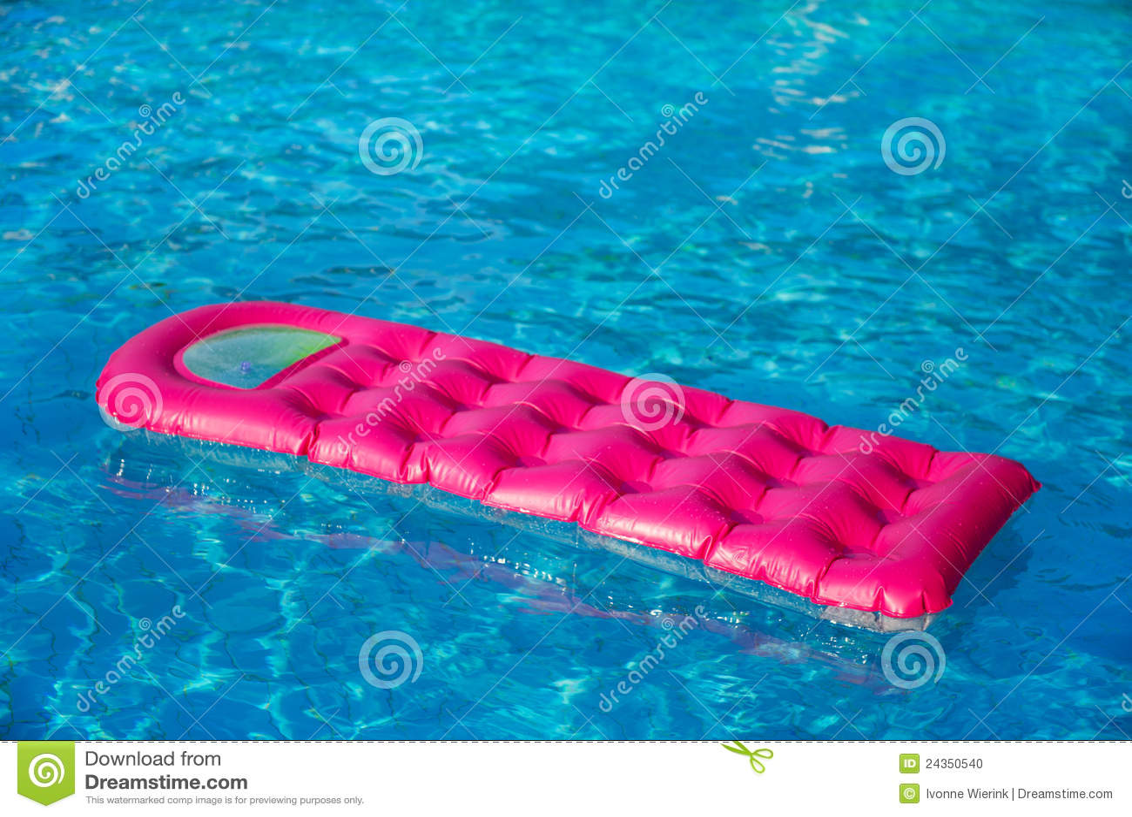 Floating Air Mattress Stock Photo Image 24350540