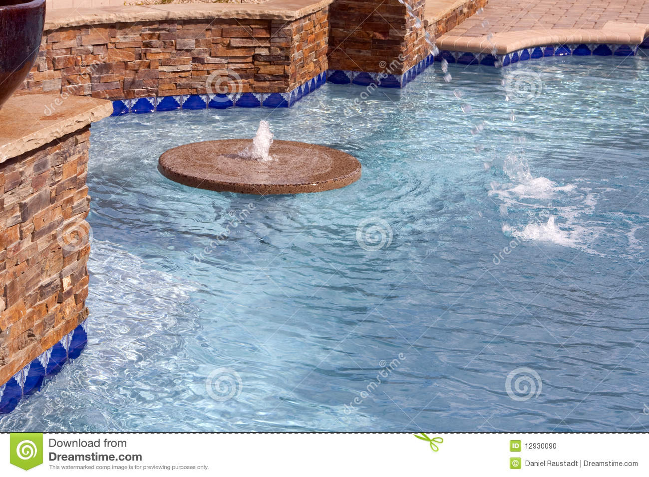 Floating Fountain Within A Swimming Pool Stock Photo Image 12930090