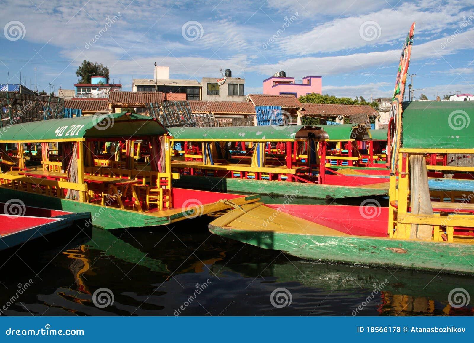The floating garden Xochimilco in Mexico City