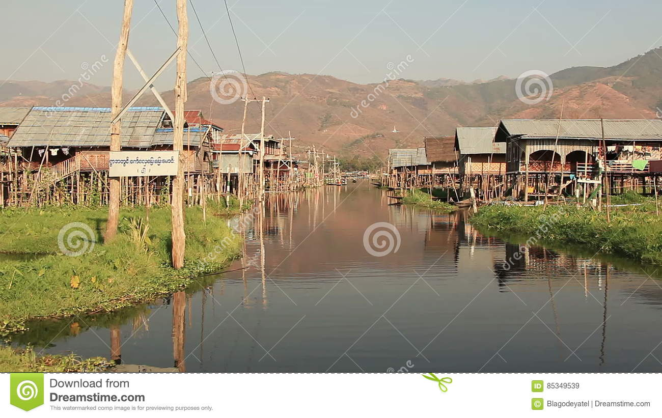 Floating Gardens Inle Lake stock video. Image of tropical - 85349539