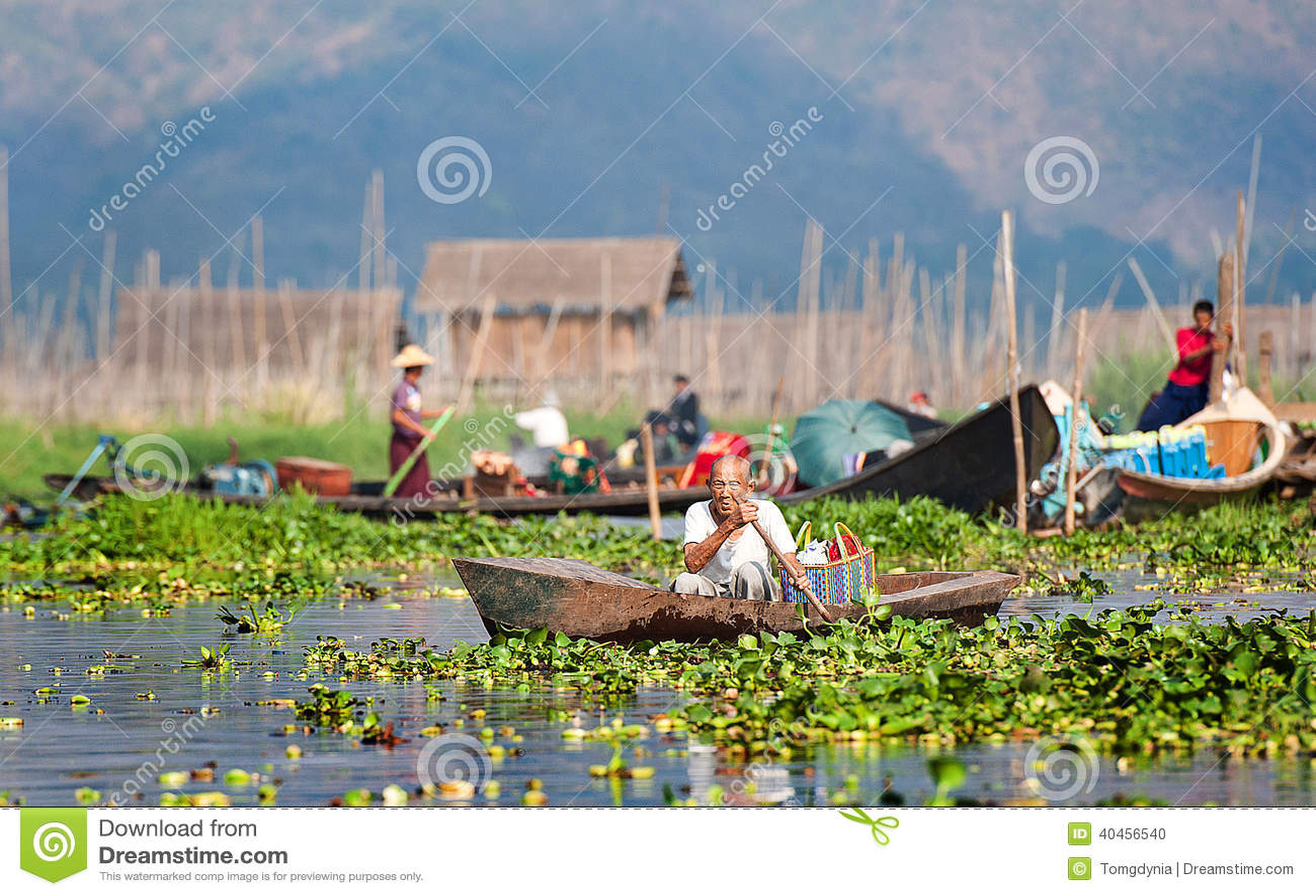 Burmese Fishermen At Inle Lake, Myanmar Stock Photo - Image: 44399794