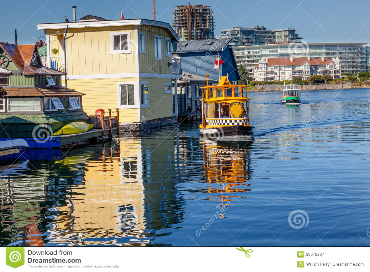 Floating Home Village Water Taxis Victoria Canada Royalty