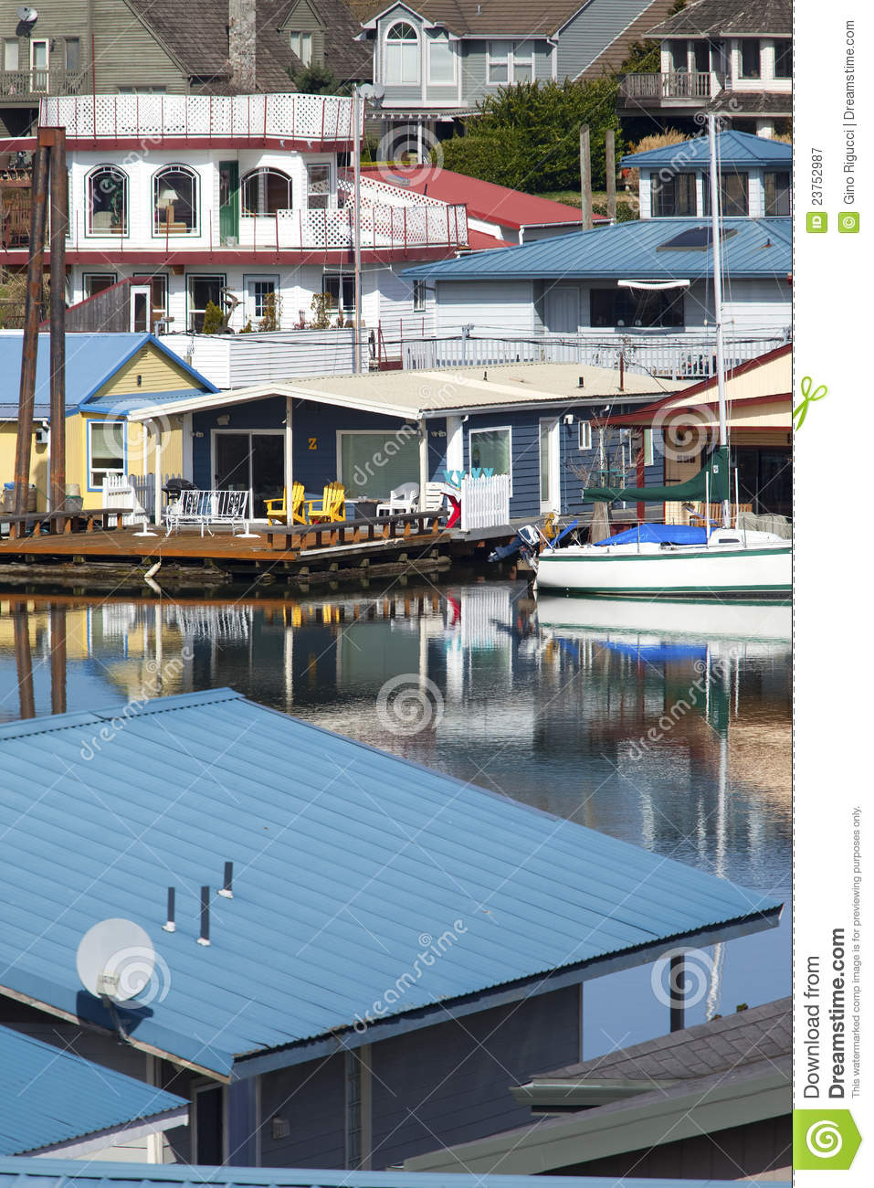 Floating homes portland or royalty free stock photography Floating homes portland
