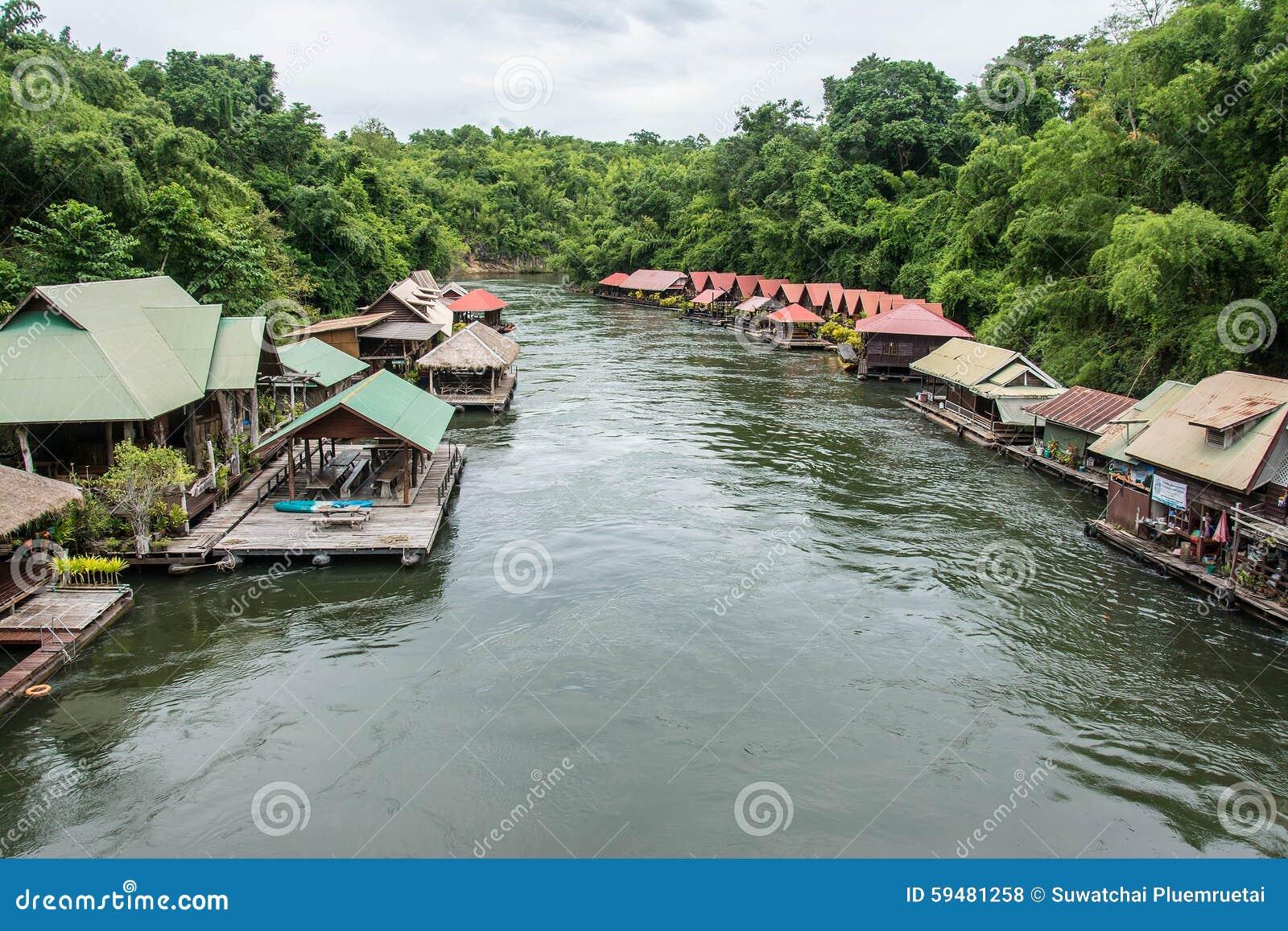 Floating House In River Kwai. Taken At Sai Yok Yai ...