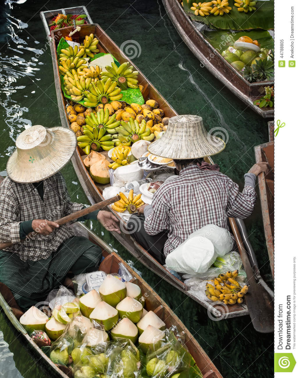 Ratchaburi Thailand  city pictures gallery : Traditional floating wood market in Ratchaburi Thailand.