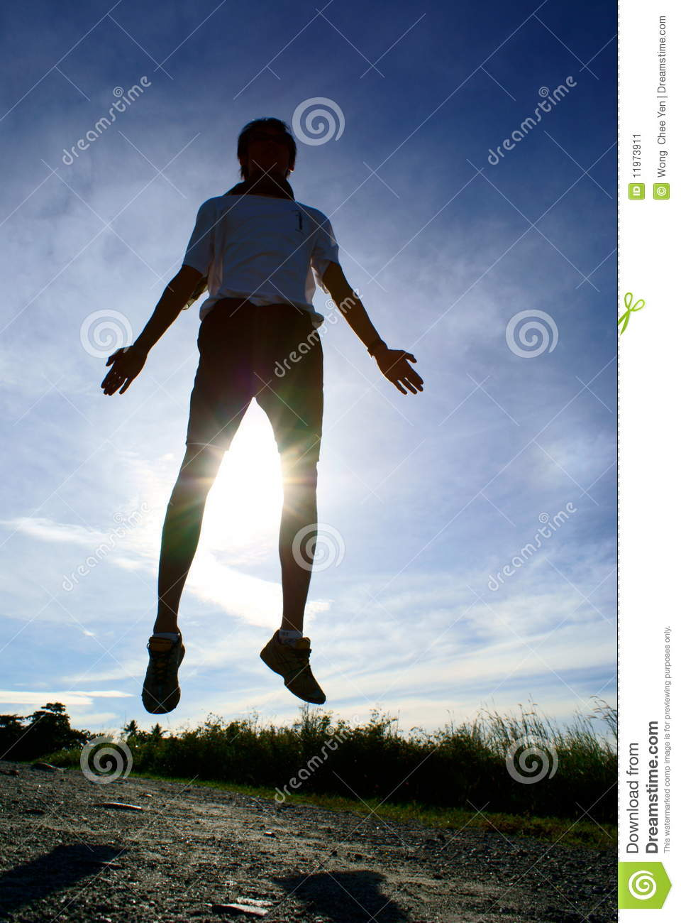 Floating Midair Silhouette Stock Image Of World