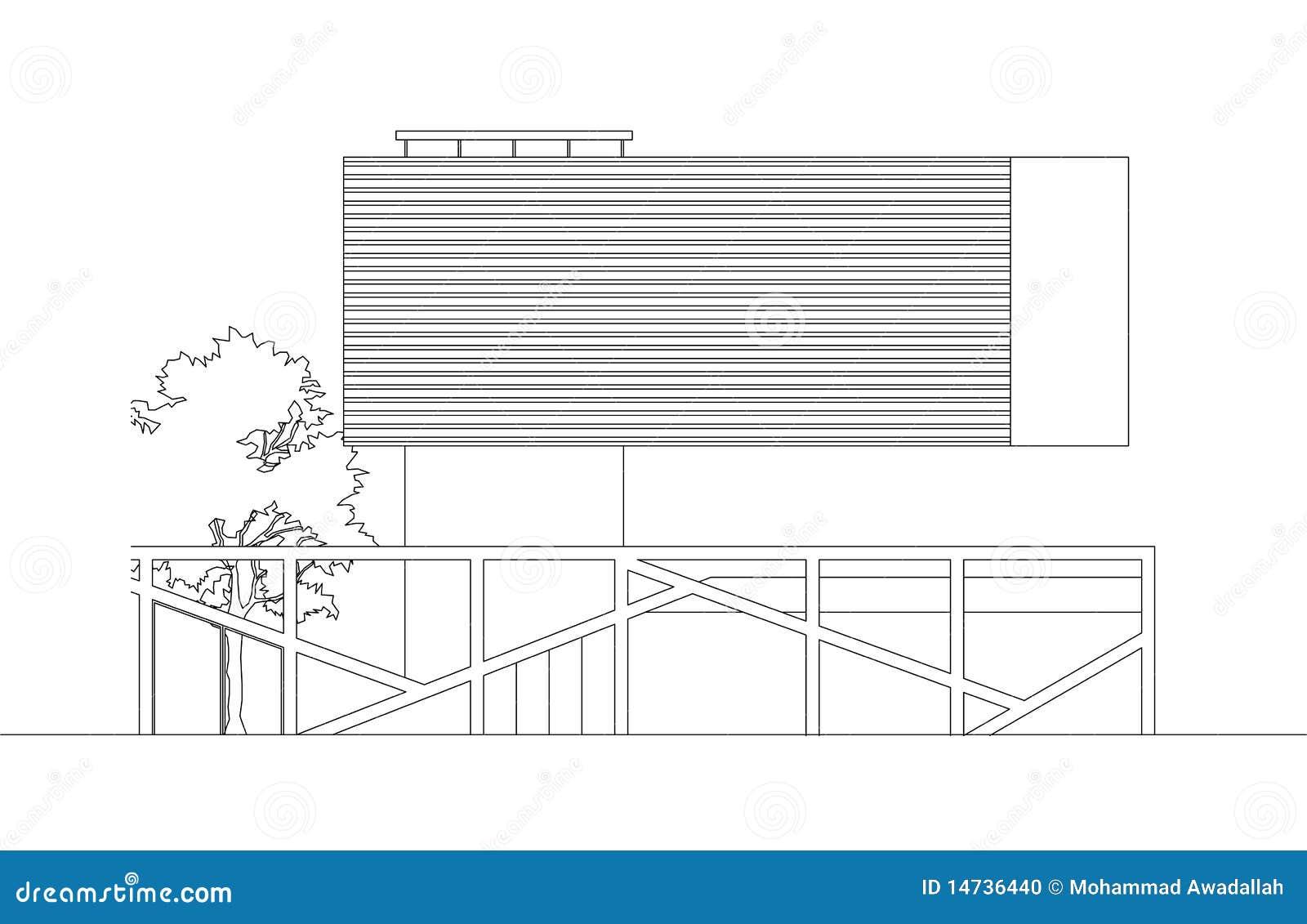 Floating Modern House levation Stock Photo - Image: 14736440 - ^