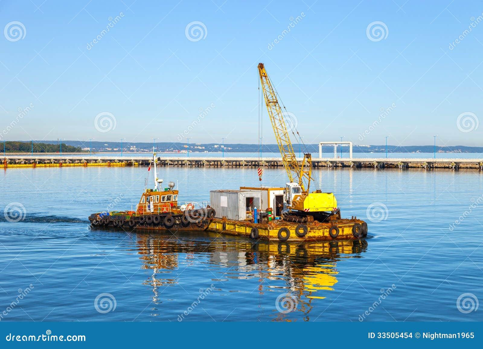 Floating Pontoon And Crane Stock Images - Image: 33505454