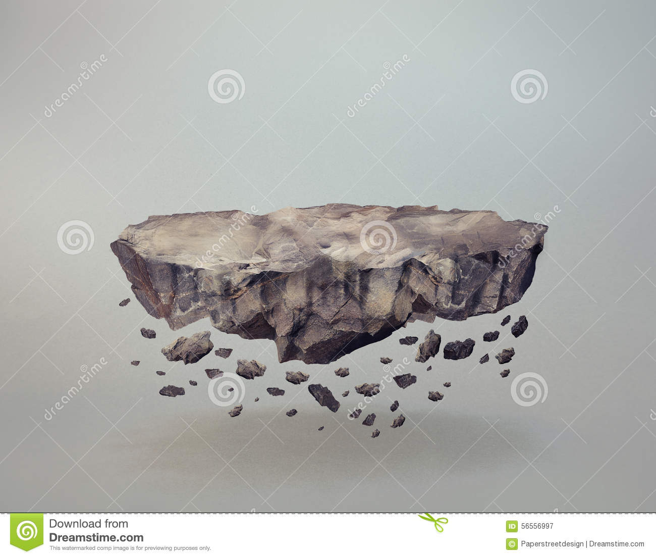Floating Stone Gravity Rock Stock Image Cartoondealer