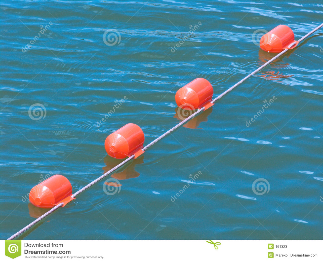 Floating safety buoy