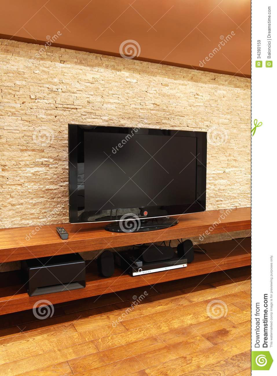 Floating TV Stand Royalty Free Stock Images - Image: 34280159