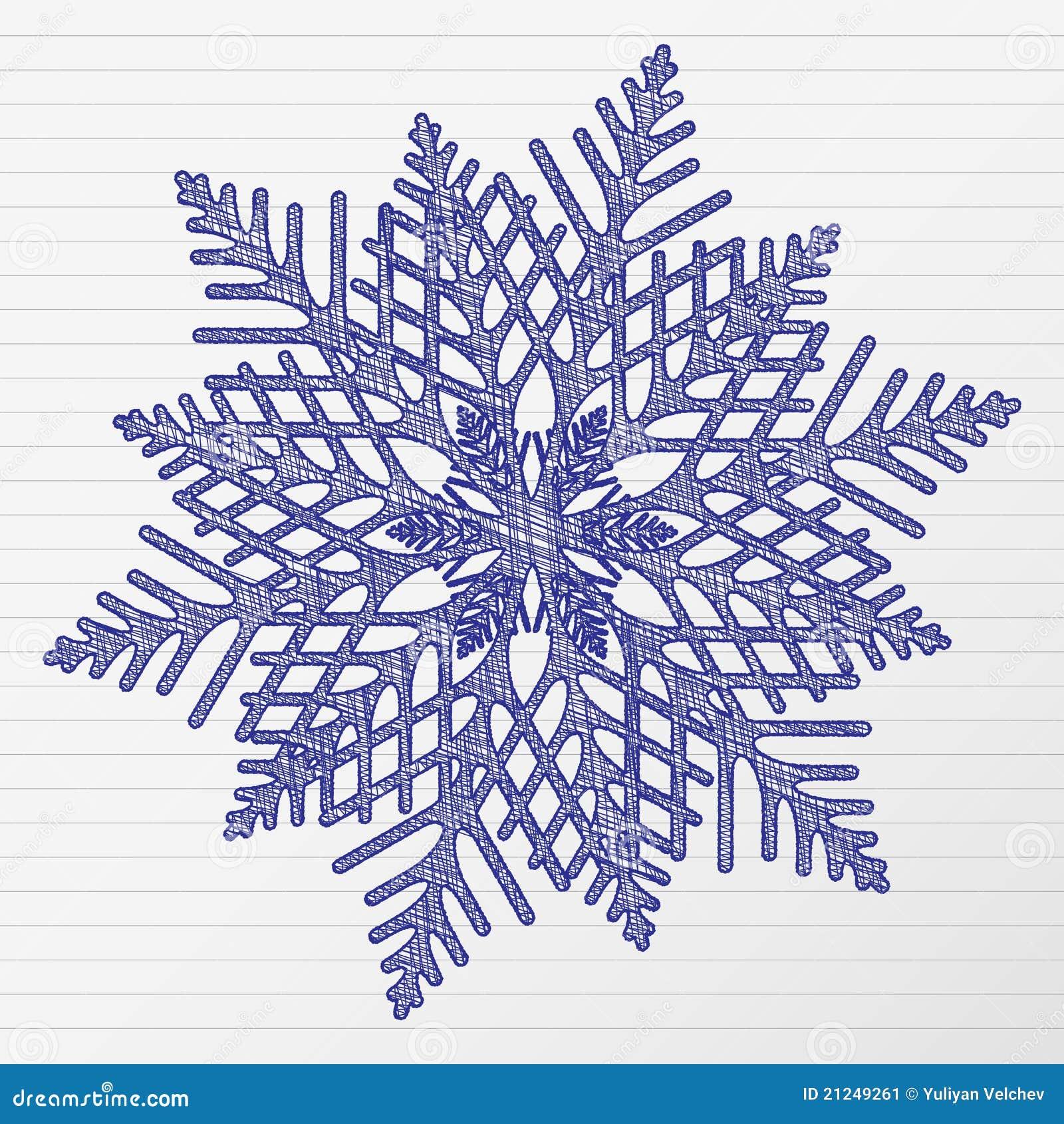 Floco De Neve Do Desenho Ilustracao Do Vetor Ilustracao De